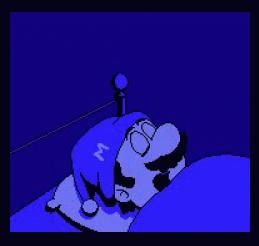 sleeping mario
